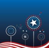Patriottische Achtergrond Royalty-vrije Stock Afbeeldingen