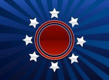 Patriottische achtergrond Royalty-vrije Stock Afbeelding
