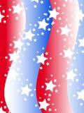 Patriottische achtergrond in de kleuren van Verenigde Staten Stock Foto