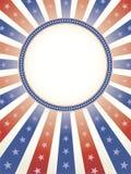 Patriottische Achtergrond met de Ruimte van het Exemplaar van de Cirkel Royalty-vrije Stock Foto's