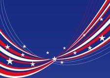 Patriottische achtergrond - Sterren en strepen   Stock Fotografie