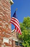 Patriottische Amerikaanse vlag Stock Afbeeldingen
