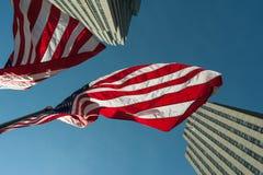 Patriottische Amerikaanse Vlag Lucht. Stock Foto's