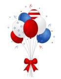 Patriottische ballons royalty-vrije illustratie