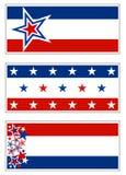 Patriottische Banners - de V.S. Stock Afbeeldingen