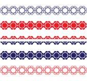 Patriottische Bloemgrenzen Royalty-vrije Stock Afbeelding