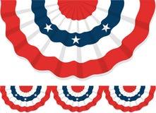 Patriottische Bunting/ai Royalty-vrije Stock Afbeelding