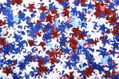 Patriottische confettien royalty-vrije stock foto