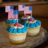 Patriottische Cupcakes Royalty-vrije Stock Afbeeldingen