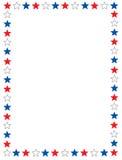 Patriottische grens Stock Afbeelding