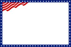 Patriottische Grens Amerikaanse dag royalty-vrije illustratie