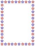 Patriottische grens de V.S. Stock Foto