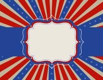 Patriottische grensachtergrond Stock Foto's