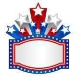 Patriottische grensachtergrond royalty-vrije illustratie