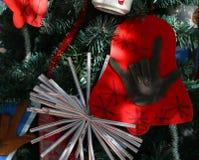 Patriottische Kerstmisboom in fort Myers, Florida, de V.S. stock afbeelding