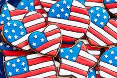 Patriottische koekjes stock afbeelding