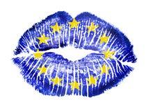 Patriottische liefde - de EU Royalty-vrije Stock Afbeeldingen