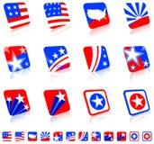 Patriottische pictogramreeks Stock Foto