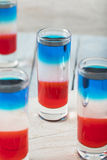 Patriottische Rode Witte en Blauwe Schoten royalty-vrije stock afbeeldingen