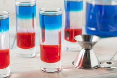 Patriottische Rode Witte en Blauwe Schoten stock fotografie