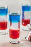 Patriottische Rode Witte en Blauwe Schoten stock afbeeldingen