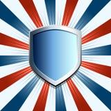 Patriottische schildachtergrond Stock Afbeelding