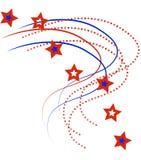Patriottische Sterren en Strepen Stock Afbeelding