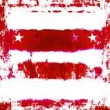 Patriottische Sterren en Strepen Grunge Stock Afbeeldingen