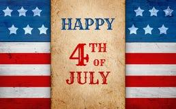 Patriottische vierde van Juli-achtergrond stock foto