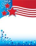 Patriottische Vliegersachtergrond Stock Afbeelding