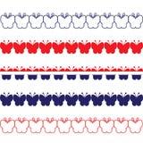 Patriottische Vlindergrenzen Royalty-vrije Stock Fotografie