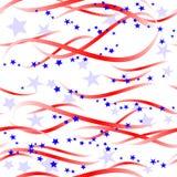 Patriottische wervelingen en sterren royalty-vrije illustratie