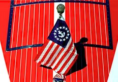 Patriotyczna łódkowata łuska Zdjęcia Stock