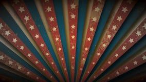 Patriotyczna USA flaga, dziki zachód, cyrkowy retro grunge rocznika sunburst lub starburst loopable płodozmienna animacja w, beżu zbiory wideo