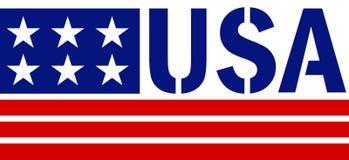 Patriotyczna usa rama z gwiazdami i czerwień promieniami obraz royalty free