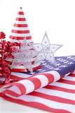 Patriotyczne partyjne dekoracje dla usa wydarzeń Zdjęcia Royalty Free