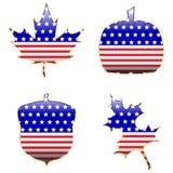 Patriotyczni jesień kształty Obrazy Stock