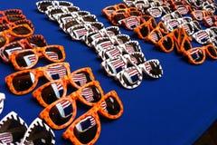 Patriotyczni okulary przeciwsłoneczni Zdjęcia Stock