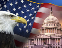 Patriotyczni symbole - Stany Zjednoczone Ameryka Obraz Stock