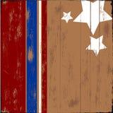 patriotyczny drewno Zdjęcia Stock