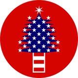 patriotyczny drzewo Zdjęcia Stock