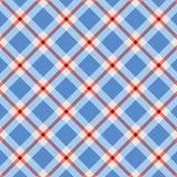 Patriotyczny gingham wzór bezszwowy Zdjęcie Royalty Free