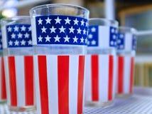 Patriotyczny Glassware Zdjęcia Stock