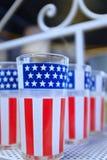 Patriotyczny Glassware Zdjęcie Royalty Free