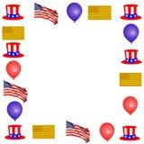 patriotyczny graniczny Obrazy Royalty Free