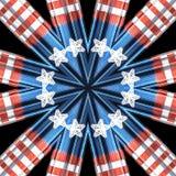 Patriotyczny kolorowy kalejdoskop grafiki pojęcie royalty ilustracja