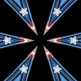 Patriotyczny kolorowy kalejdoskop grafiki pojęcie ilustracji