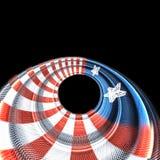 Patriotyczny kolorowy okrąg grafiki pojęcie ilustracja wektor