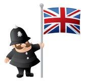 Patriotyczny policjant ilustracji