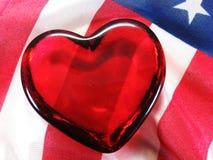 patriotyczny serce Zdjęcia Stock